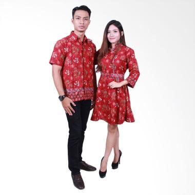 Batik Putri Ayu Solo SRD503 Batik Sarimbit Couple - Merah