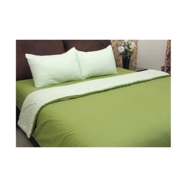 Chelsea Gold Polos Set Sprei dan Bed Cover - Green Lake
