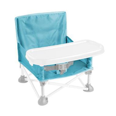 Summer 13530 Pop n' Sit Portable Booster Kursi Makan Bayi - Aqua