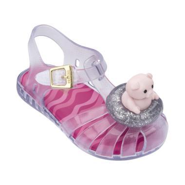 Mini Melissa Aranha IX Pig Sepatu Anak Perempuan - Clear