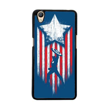 Flazzstore Captain America Blue O01 ... or Oppo Neo 9 or Oppo A37