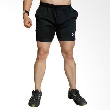 FLEX Sport Super Quick Dry Shorts Bawahan Olahraga Pria - Black