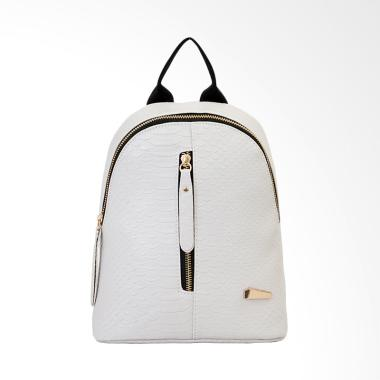 Lansdeal Women Leather Backpack - Grey