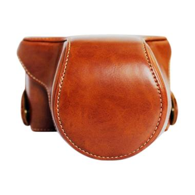Camwear Leather Case Brown for Fujifilm XA3/XA10 jpckemang