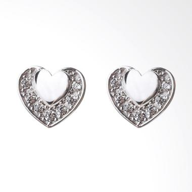 Cocoa Jewelry Love Sign Anting - Silver
