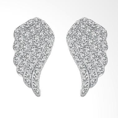 SOXY SVE062 New Fashion Simple 925 Silver Flying Wing Diamond Earrings