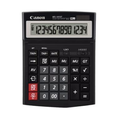 harga Canon WS-1410T Kalkulator [14 Digit] Black Blibli.com