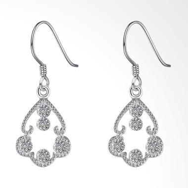 SOXY LKNSPCE802 New Exquisite Fashion Flower Shaped Diamond Earrings