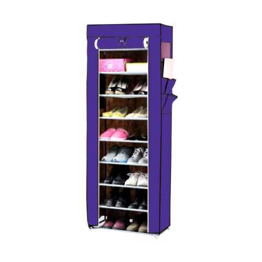 Kobucca Shop Rak Sepatu - Ungu [10 Susun]