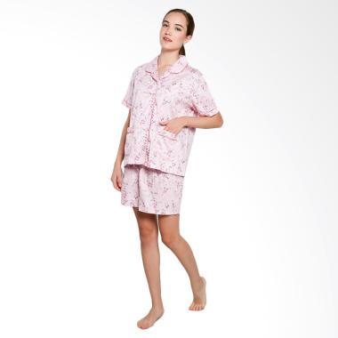 Just Fashion Katun Piyama Baju Tidur - Baby Pink