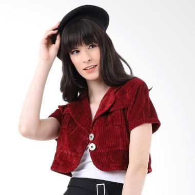 Mobile Power H8501 Ladies Bolero Cropped Outer - Maroon