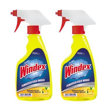 WINDEX 256500000 Pump Cairan Pembersih Kaca - Lemon [2 pcs/ 500 mL]