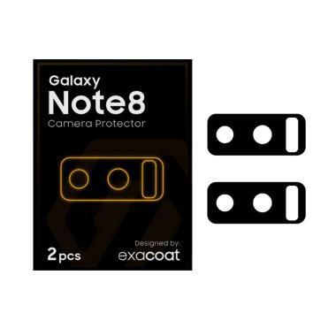 Exacoat Matte Camera Protector for  ... xy Note 8 - Black [2 pcs]
