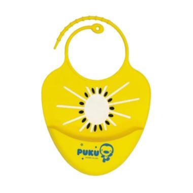 Puku P14204-Y Baby Silicone Bib Celemek Bayi - Yellow