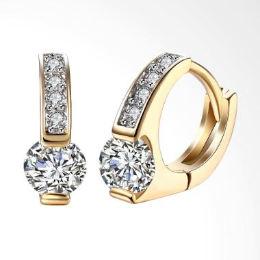 SOXY KZCE114-E Round Diamond Romantic Female Champagne Earrings - Gold