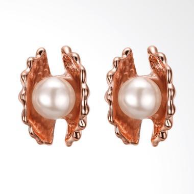SOXY AKE077 Fashion K Gold Pearl Rose Gold Earrings