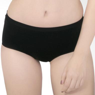 Raquel Lingerie Keisha High-Waist Panty Celana Dalam Wanita - Black