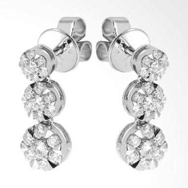 Lino P1702230017 Anting Berlian Emas Putih [18K VVS]
