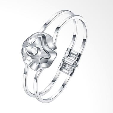 SOXY LKNSPCB012 Fashion Flowers Bracelet - Silver