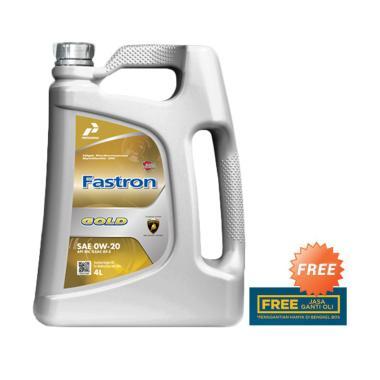 Pertamina 0W 20 Fastron Gold Oli 4 Liter