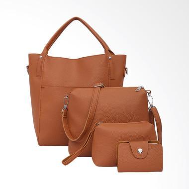 Lansdeal Four Hand Bag Set Tas Wanita - Brown