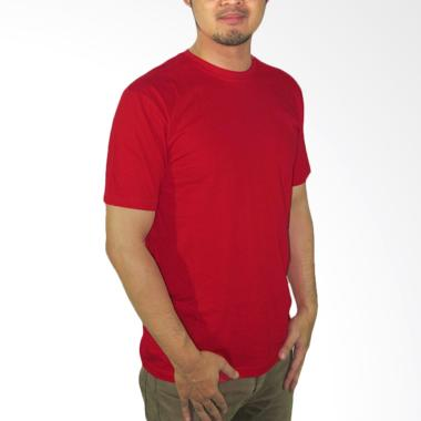 Nazoela Clothing Baju Kaos Polos - Red