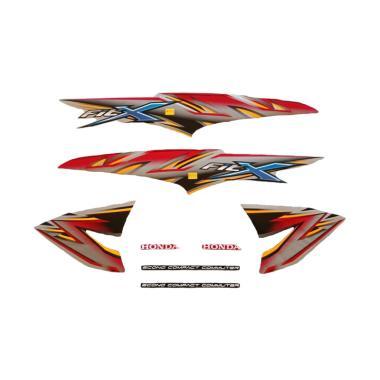 harga Idola Striping Aksesoris Body Motor for Supra Fit X 2008 - Silver Merah Blibli.com