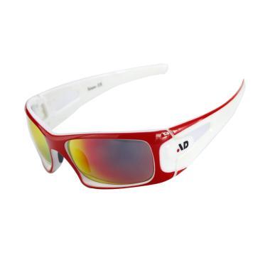 iDealEZ Sporting Eyewear PC REVO Lenses Sports Sunglasses - Red White