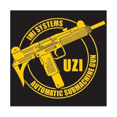 Kyle Uzi The Famous Submachine Gun In Round Cutting Sticker