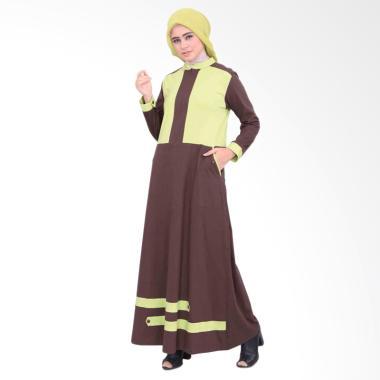 Vemmella Gemma 06 Baju Gamis Muslim Wanita - Coklat