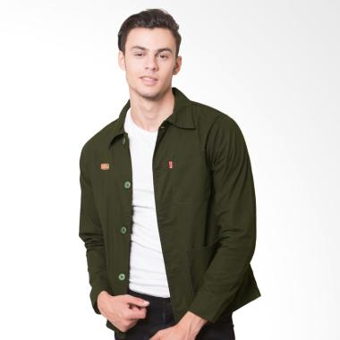 Oliveinch Clive Engineering Jacket Pria - Green Army