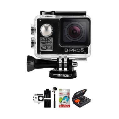 Brica B-Pro 5 Alpha Edition 1 4K AE ... wesome Action Cam - Hitam