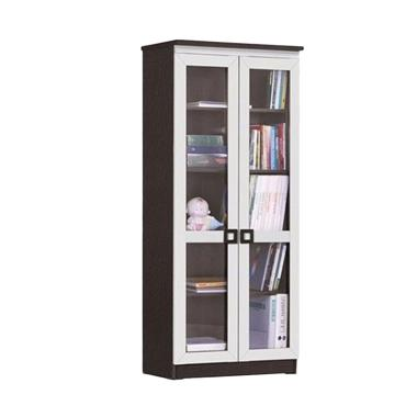Creova Seri 2606 2 Pintu Kaca Lemari Buku - Coklat