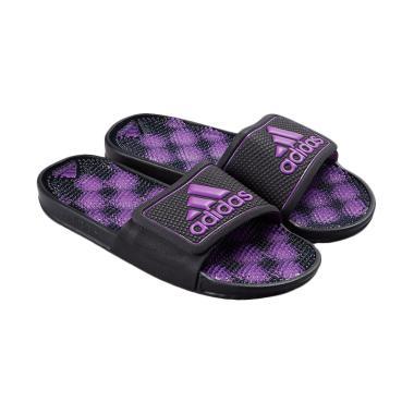 adidas Adissage 2.0 Stripe Slides W ... a - Black Purple [AQ2129]