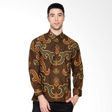 Adiwangsa Batik Modern Slim Fit Kemeja Pria - Coklat [036]
