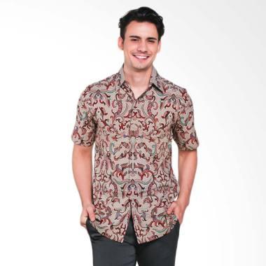 Batik Heritage Katun Premium Kujang ... im Fit Batik Pria - Merah