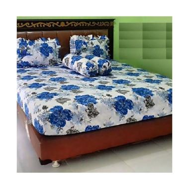 BC Set Ice Flower Motive Cotton Set Sprei dan Bedcover