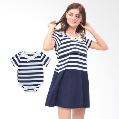 Mooimom Boy Dress Set Baju Couple Hamil Menyusui & Anak - Navy