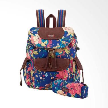 Sakroots Flap Backpack Ladies 1000047499 Royal Flower Power