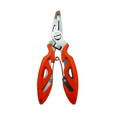 Yangunik Fishing Plier Scissors Gunting Kail Pancing Ikan - Orange
