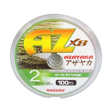 Maguro Azayaka X8 G-Nature PE Senar ...  m/ Size 2/ Ukuran 38LBS]