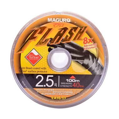Maguro Flash Gold PE Senar Pancing [100 Meter / Size 2.5 / 40 lbs]