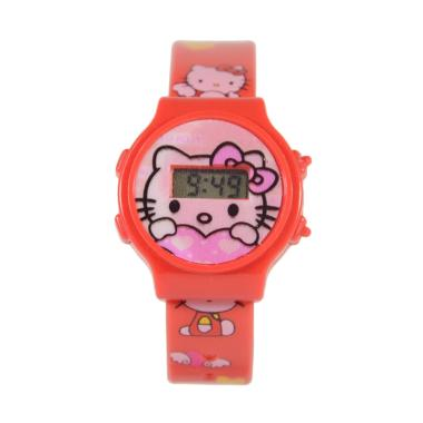 Hello Kitty DnB Collection Jam Tangan Digital Anak - Merah