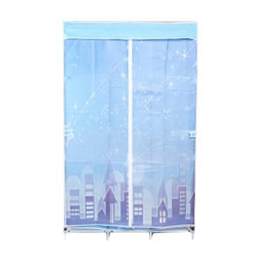 Radysa Star Lemari Pakaian Portable 3 Layer - Blue