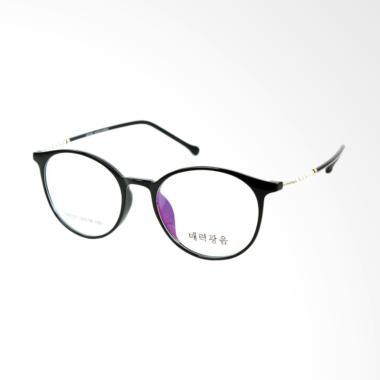 Korea Frame 85027 Bulat Frame Kacamata Wanita - Black Gun