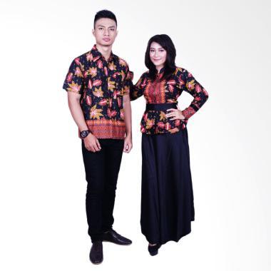 Batik Putri Ayu Solo SRG600 Sarimbit Batik Couple - Hitam
