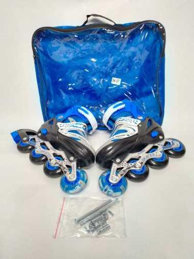 harga Sepatu Roda Inline Skate PVC Anak Remaja M 34-37 34-37 Biru Blibli.com