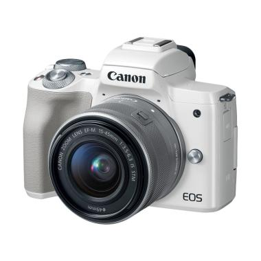 Canon EOS M50 Kit 15-45mm Kamera Mirrorless - White Tokocamzone