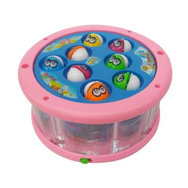 Momo Fishing Game Fun Master Aquarium Mainan Anak - Pink Biru