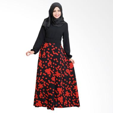 SYAHEERA Thalia Long Dress Wanita Muslim - Maroon